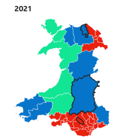 Political Maps of Wales 2021